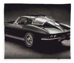 63 Chevrolet Corvette Stingray Fleece Blanket