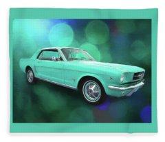 65 Mustang Fleece Blanket