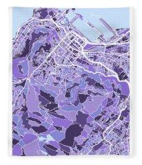 Cape Town South Africa City Street Map Fleece Blanket