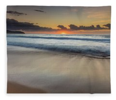 Sunrise Beach Seascape Fleece Blanket