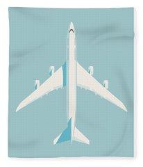747-8 Jumbo Jet Airliner Aircraft - Sky Fleece Blanket