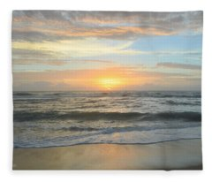 9/17/18 Obx Sunrise  Fleece Blanket