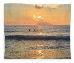 9/3/18 Kitty Hawk Sunrise Fleece Blanket