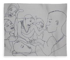 Children Coming To Jesus Fleece Blanket