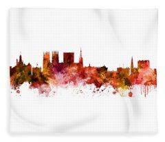 York England Skyline Fleece Blanket