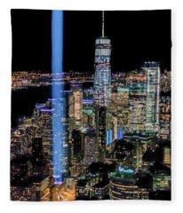 911 Lights Fleece Blanket