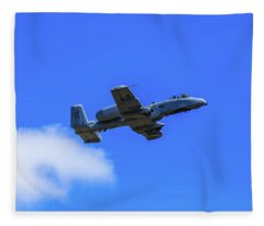A-10c Thunderbolt II In Flight Fleece Blanket