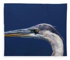 A Blue Portrait Fleece Blanket