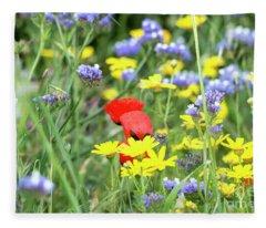 A Bunch Of Colors 02 Fleece Blanket