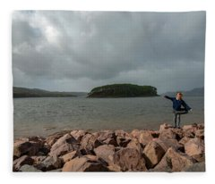 A Charming Little Girl In The Isle Of Skye 1 Fleece Blanket