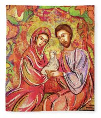 A Child Is Born Fleece Blanket
