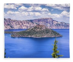 A Crater Lake Dream Fleece Blanket