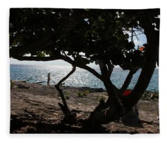A Day On The Beach Fleece Blanket