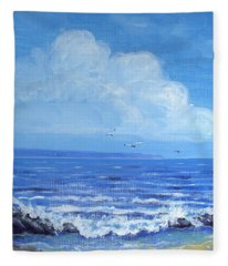 A Distant Shore Fleece Blanket
