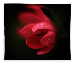 A Dollop Of Red  Fleece Blanket