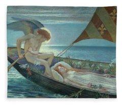 A Dream, 1902 Fleece Blanket
