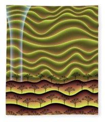 A Faint Glow On The Horizon Fleece Blanket
