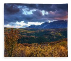A Fall Sunset In Colorado Fleece Blanket