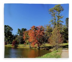 A Fall Walk To Relax Fleece Blanket