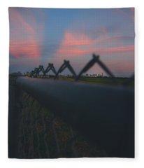 A Fence Fleece Blanket