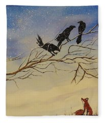 A Fox And His Cronies Fleece Blanket