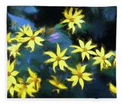 A Galaxy Of Sunflowers In Langdon Woods  Fleece Blanket