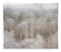 A Ghost Of Trees Fleece Blanket