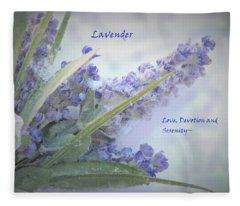 A Gift Of Lavender Fleece Blanket
