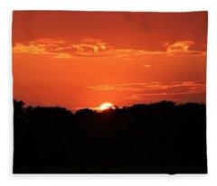 A Golden Sunset  Fleece Blanket