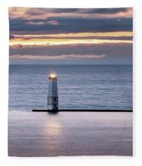 A Guiding Light Fleece Blanket