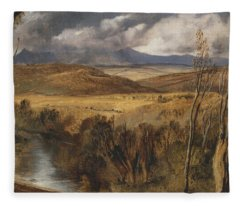 A Highland Landscape Fleece Blanket