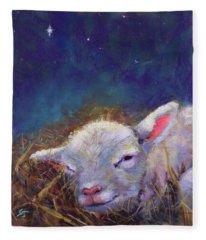 A King Is Born Fleece Blanket