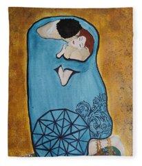 A Kiss From The Heart Fleece Blanket
