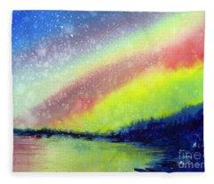 A Little Aurora Borealis Fleece Blanket