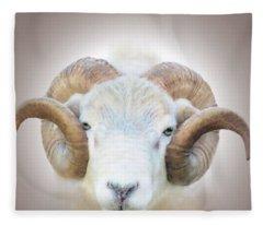 A Little Ram  Fleece Blanket