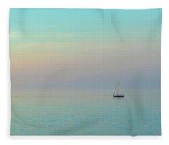 A Mid-summer Evening Fleece Blanket