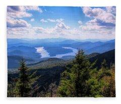 A Mountain View. Fleece Blanket