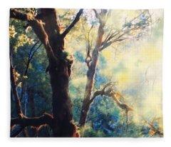 A Nature Walk With John Singer Sargent  Fleece Blanket