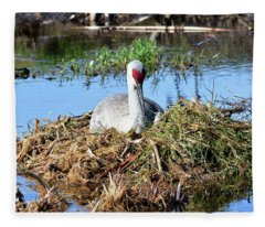 A New Crane Nest Fleece Blanket