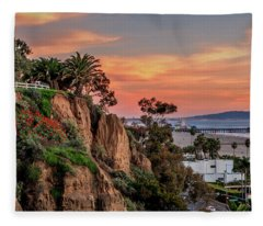 A Nice Evening In The Park Fleece Blanket