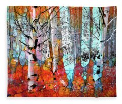 A Party In The Forest Fleece Blanket