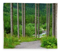 A Path To The River Fleece Blanket