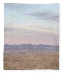 A Peaceful Desert Night No.1 Fleece Blanket