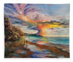 A Peculiar Sunset Fleece Blanket