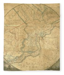 A Plan Of The City Of Philadelphia And Environs, 1808-1811 Fleece Blanket