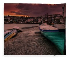 A Quiet Moment - Cornwall Fleece Blanket