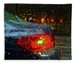 A Rainy Day In Nyc Fleece Blanket
