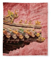 A Roof In The Forbidden City Fleece Blanket