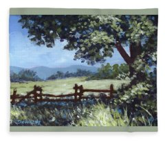 A Shady Rest Sketch Fleece Blanket