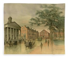A Southwestern View Of Washington Square Fleece Blanket
